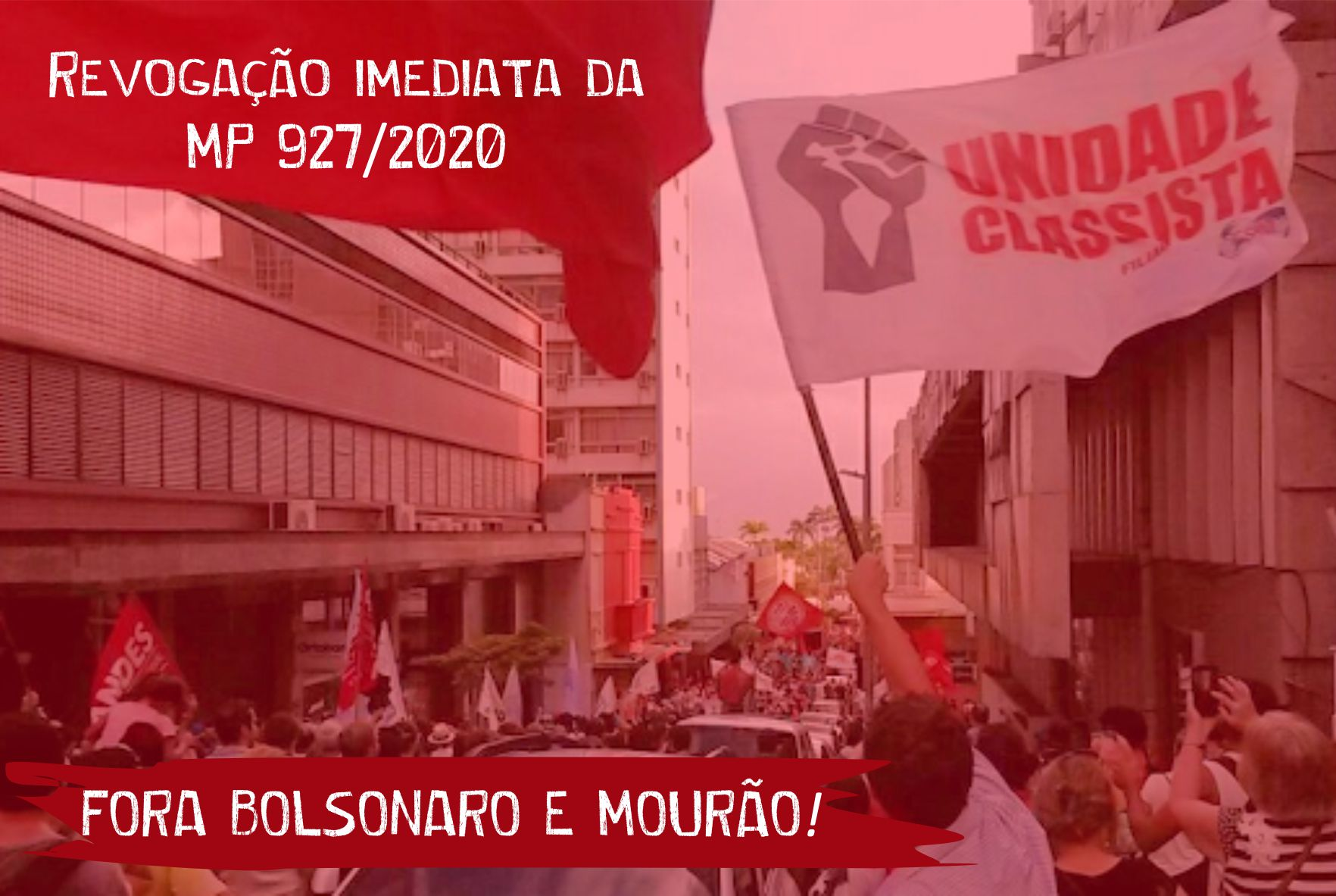 BOLSONARO QUER NOS MATAR, É HORA DE REAGIR E PARAR A PRODUÇÃO!