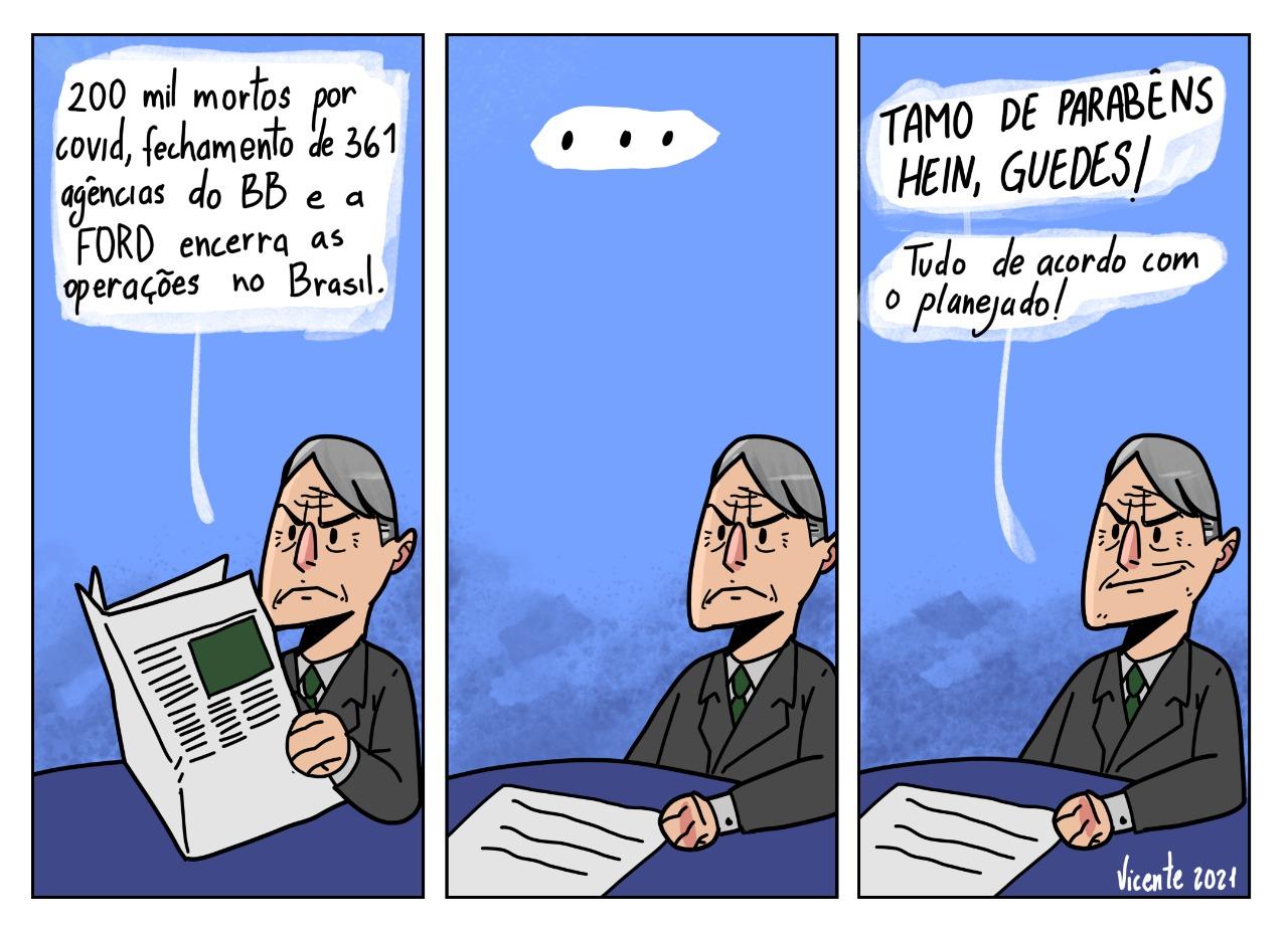 ENQUANTO O BRASIL ESTÁ SENDO DESTRUÍDO, O PRESIDENTE COMEMORA