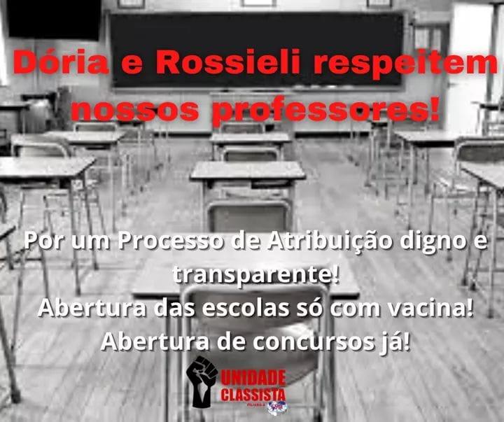 DÓRIA E ROSSIELI RESPEITEM NOSSOS PROFESSORES!