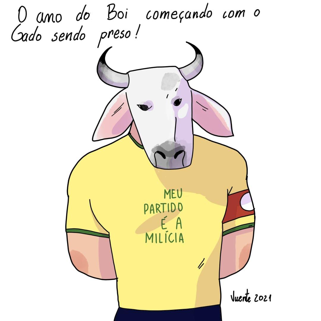 CHARGE DA SEMANA – O GADO TÁ SENDO PRESO